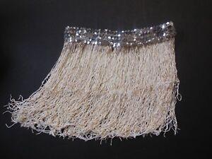 NWOT-12-034-Chainette-Fringe-Skirt-Silver-Sequin-Waistband