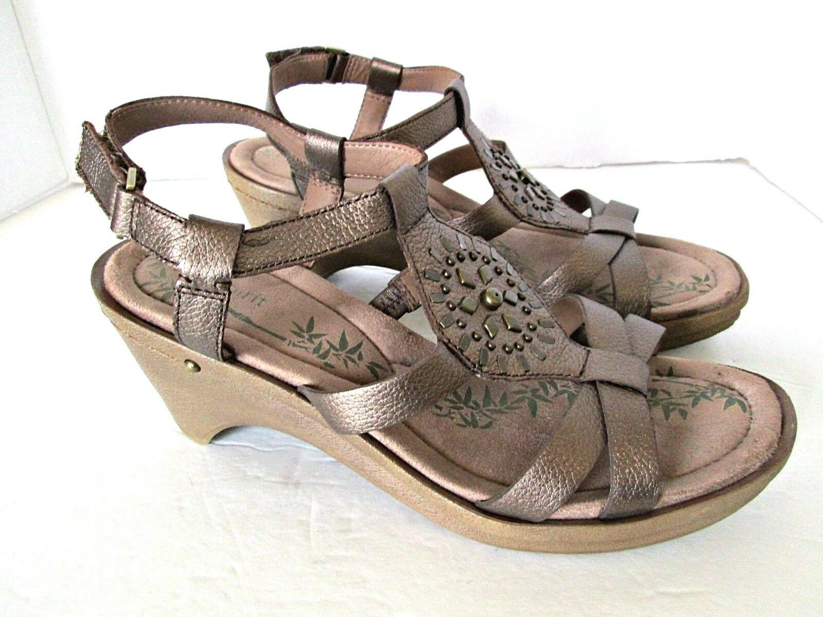 Easy Spirit shoes sandals sandals shoes heels Merryola 10M brown adjustable ankle strap women 5d2af4