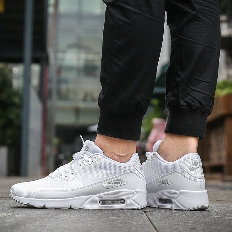 MEN'S NIKE AIR MAX 90 ULTRA 2.0 ESSENTIAL WHITE PURE PLATINUM WHITE SNEAKERS