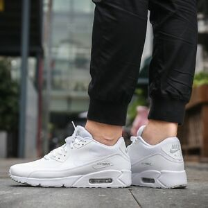 Details about MEN'S NIKE AIR MAX 90 ULTRA 2.0 ESSENTIAL WHITE PURE PLATINUM WHITE SNEAKERS