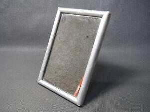 Détails sur Ancien petit miroir de poche ou salle de bain vintage cadre alu  à poser vintage