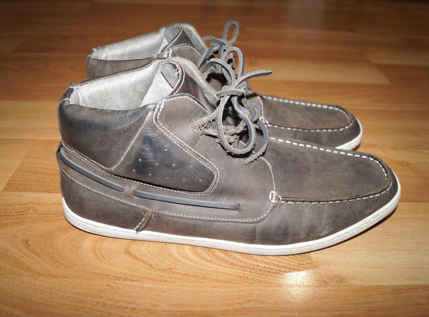 Steve Madden Furl Stiefel 11 Gray Leder Größe 11 Stiefel Vintage 257835