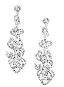 Glamour-Abendschmuck-Hochzeit-Lange-Ohrringe-Kristall-klar-Transparent-9cm-lang