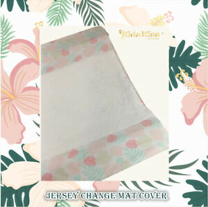 Kidz-Kiss-Jersey-Velour-Fitted-Change-Mat-Pad-Cover-Leaf-Pink-White