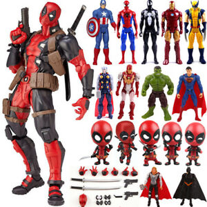 Decor-Marvel-Superheld-Figur-Deadpool-Spiderman-PVC-Action-Figuren-Spielzeug-NEU
