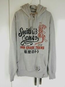 Mens Smith Jones Hoodie Grey With Tigers Logo Size L Xl See Sizing 42 44 Ebay