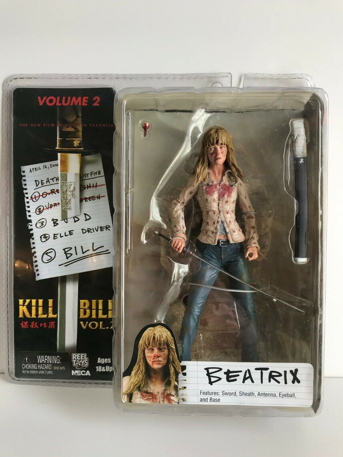 NECA KILL BILL volume 2 BEATRIX KIDDO action figure Tarantino reel toys NEW
