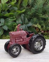 Miniature Dollhouse Fairy Garden Furniture Mini Farm Red Tractor