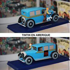 ATLAS-Tim und Struppi-TINTIN CAR-CHECKER TAXI -TINTIN EN AMERIQUE-Modell-rare
