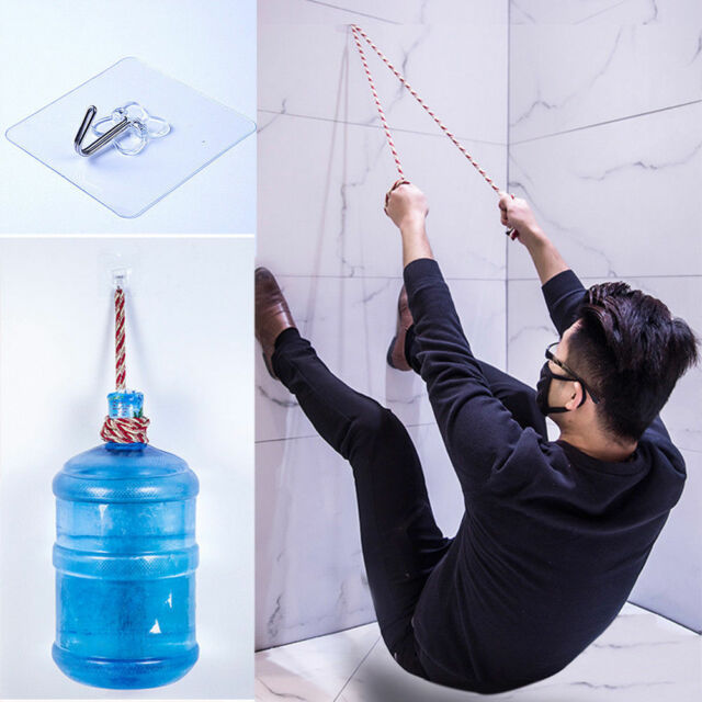 2x Removable Bathroom Kitchen Wall Strong Suction Cup Hook Hangers Vacuum Sucker