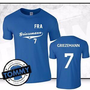 Image is loading Griezemann-7-France-T-Shirt-France-Atletico-World- dc32e2a99