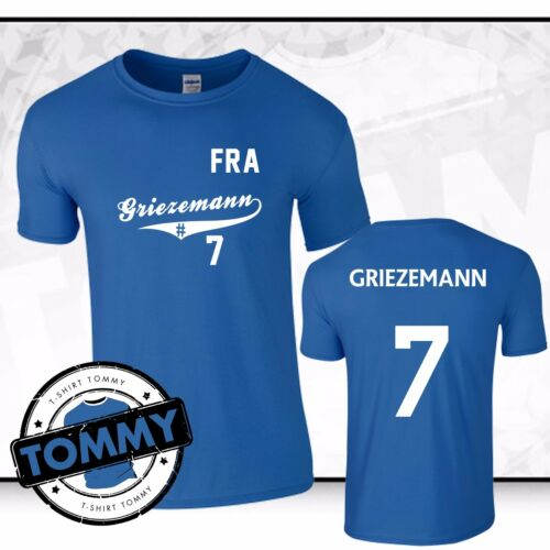 Griezemann #7 France T-Shirt World Cup 2018 Fan T-Shirt Shirt France Atletico