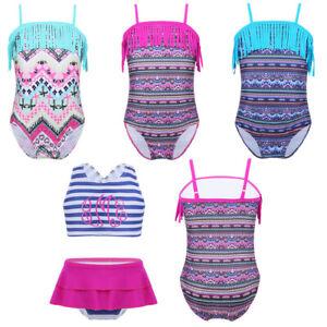 Toddler Baby Girls Tassels Tankini Bikini Suit Swimwear Costume Bathing Swimsuit