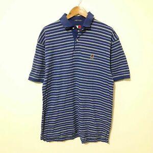 Details about Vintage Men's Tommy Hilfiger Polo Shirt. Blue & Green Striped. Large L. VGC