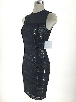 Marc New York Andrew Marc NWT Lime Green//Black Beautiful Design Dress 6 8 10 14