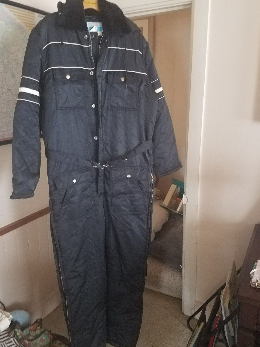 Vintage Sears Work Leisure Insulated Snowmobile Suit 42 T Tall Euc  FREE SHIP