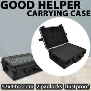 vidaXL Transport Hard-Case Black with Foam 35L Carrying Case Tool Storage Box