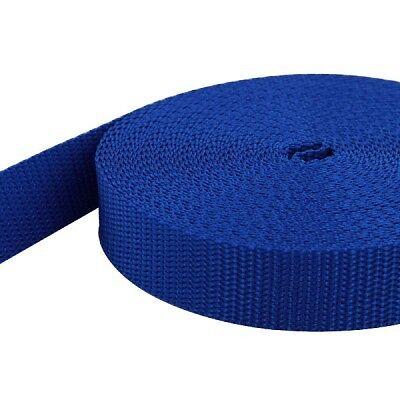 40mm breit UV 50m PP Gurtband königsblau 1,4mm stark