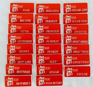 Hooters-girl-Uniform-Name-Tag-Pick-your-Name-Badge-Waitress-Pin-Costume-Extra