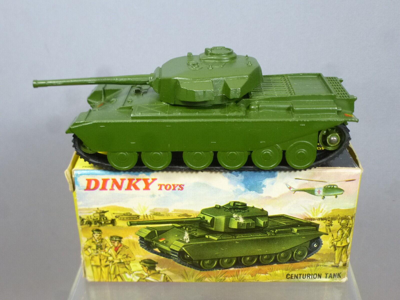 DINKY supergiocattolo modello N. 651 CENTURION TANK versione finale in plastica RUOTE  VN Nuovo di zecca con scatola