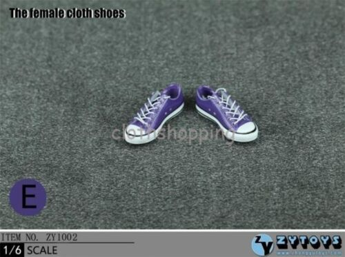 """ZYTOYS 1//6 Figure Accessories Female Snakers Sport Cloth Shoes Fit 12/"""" Hot Toys"""
