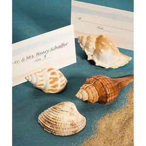 Segnaposto Matrimonio Mare.Segnaposto Conchiglia Vera Tema Mare Spiaggia Matrimonio