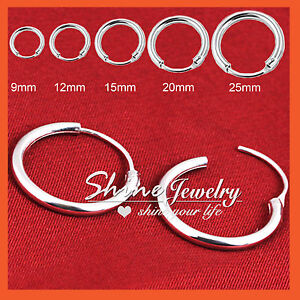 925-STERLING-SILVER-MEN-WOMEN-KID-HOOP-HUGGIE-SLEEPER-EARRINGS-EAR-BODY-PIERCING