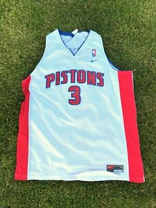 Details about Used Vintage Ben Wallace Detroit Pistons #3 Nike NBA Jersey WHITE Size Adult 2XL