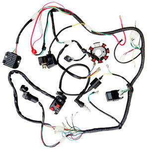 details about electric wire wiring harness cdi coil assembly for 50 110cc 125cc atv quad buggy chinese 250cc atv wiring diagram 50cc 70cc 90cc 110cc 125cc wiring