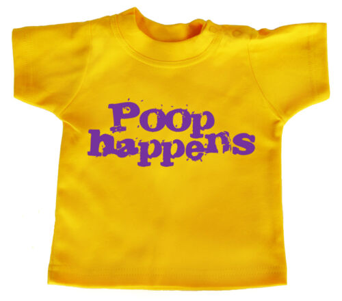 """Funny Baby T-Shirt /""""Poop Happens/"""" Boy Girl Clothes"""