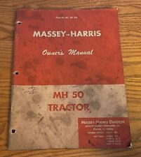 Massey Harris Owners Manual Mh 50 Tractors 695 001 M91 15m 11 55