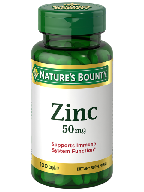 Nature's Bounty Zinc 50mg 100ct Dietary Supplement