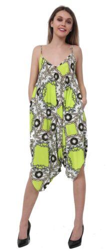 New Ladies Cami Lagenlook Romper Baggy Harem Jumpsuit Playsuit Dress Plus Siz UK