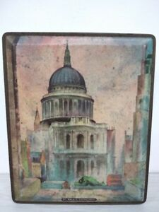 st. paul's cathedral edward sharp & sons tin Cashier rare tin box case safe