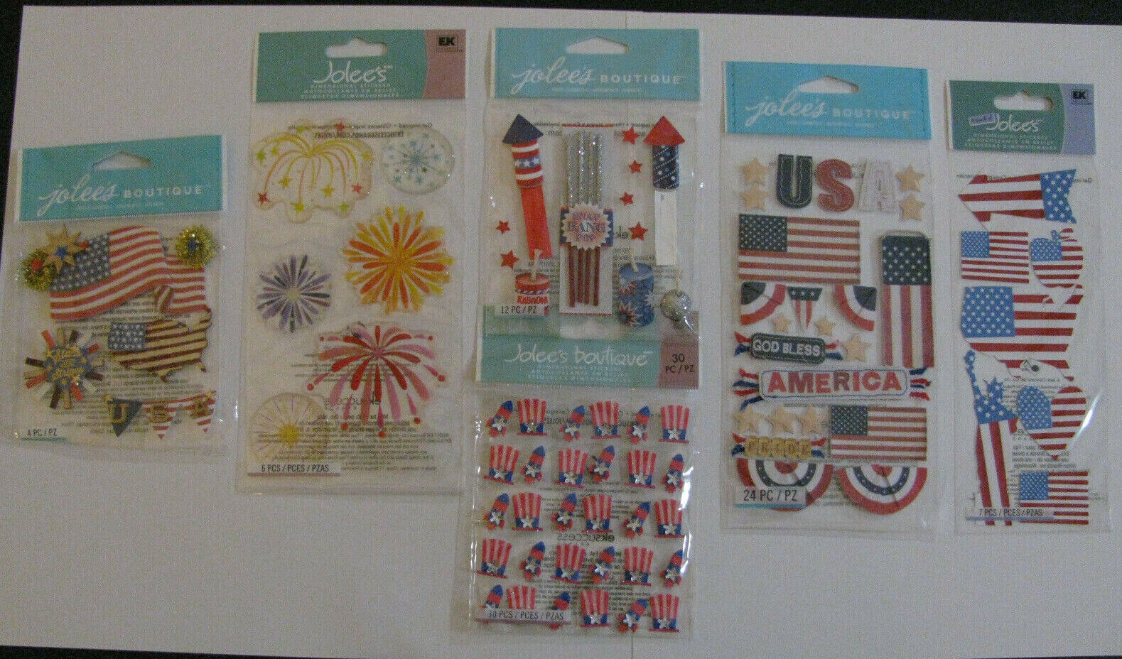 Jolee/'s Boutique Dimensional Stickers American Flag 015586972443