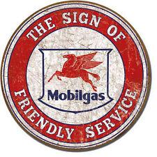 Vintage Service Station Mobil Oil Pegasus Affiche Garage Plaque 178