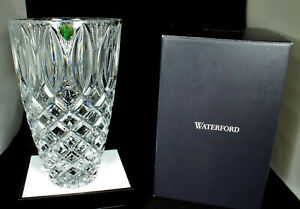 WATERFORD-GRANT-VASE-10-034-Crystal-NEW-in-BOX-Discontinued-2-Available