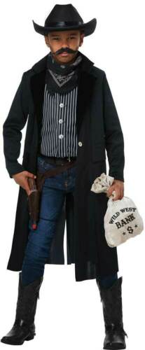 Wild West Sheriff Outlaw Deputy Western Cowboy Jacket Costume Child Boys