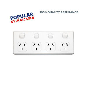 4-Gang-GPO-Power-Point-Quad-Socket-Outlet