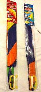 Kites-Wild-Flyer-Stripes-Twine-Winder-Tails-Easy-Fly-Nylon-50-034-Funtastic-NIP