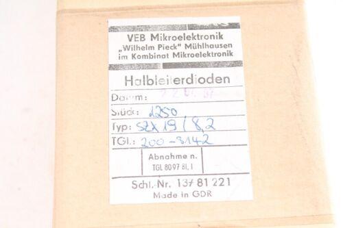 100 x Zener-Diode Z Diode SZX 19//8,2 Diode Dioden 100 Stück RFT