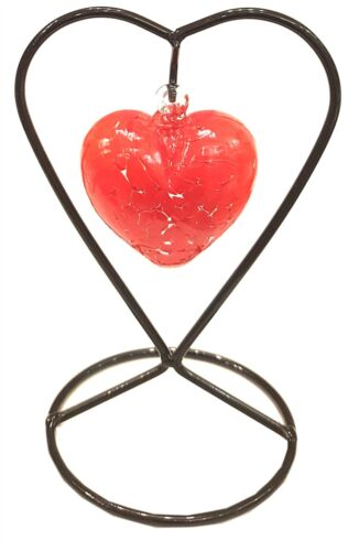 Valentine Red Milford Collection Friendship Heart /& Stand
