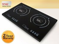 True Induction S2f2 Cooktop, Double Burner, Energy Efficient, New, Free Shipping