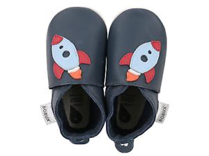 hot sale online 0f4e6 472bd Dettagli su Bobux scarpe neonato rocket navy blu culla primi passi pelle  slip on navicella