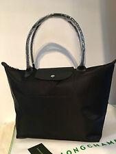 100 Auth Longchamp Le Pliage Neo Long Handle Large Tote Bag Black 1899578001 2f09e92a92f04