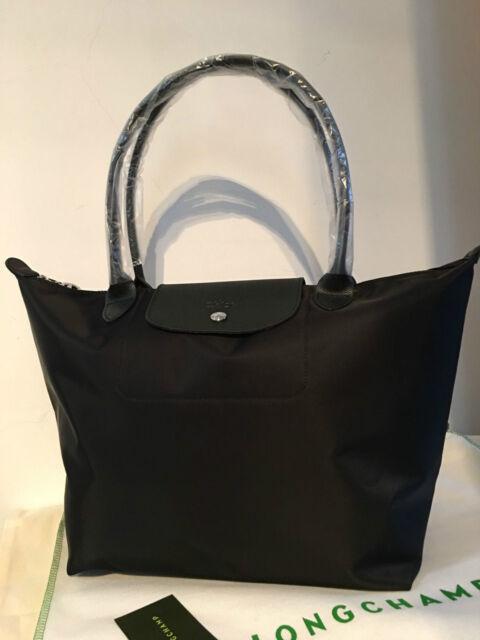 100 Auth Longchamp Le Pliage Neo Large Tote Bag Black 1899578001