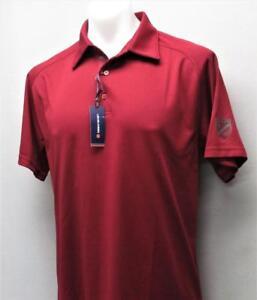 New-Mens-Levelwear-polyester-golf-polo-shirt-Medium-The-Donalda-Club