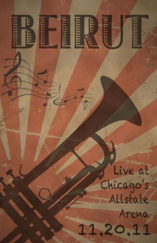 Beirut Live In Chicago 0475 Vintage Music Poster Art