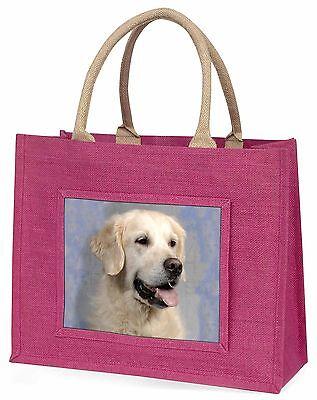 Golden Retriever Hund Große Rosa Einkaufstasche Weihnachten Geschenkidee,