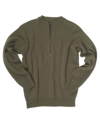 Suisse sweat-shirt-NEUF troyer armée pull à rv olive coton
